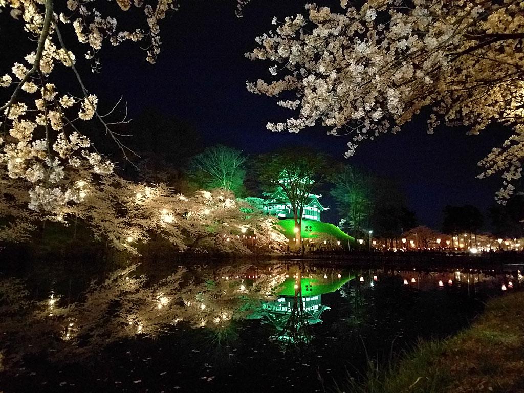 日本三大夜桜 上越市 高田城百万人観桜会