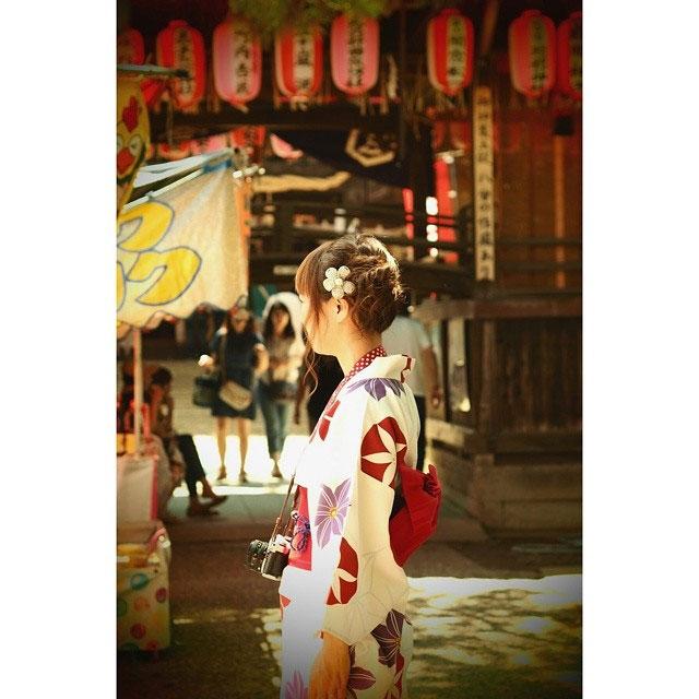 蒲原祭り 浴衣の写真