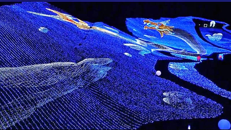 アパリゾート上越妙高イルミネーション2016 遠方に龍