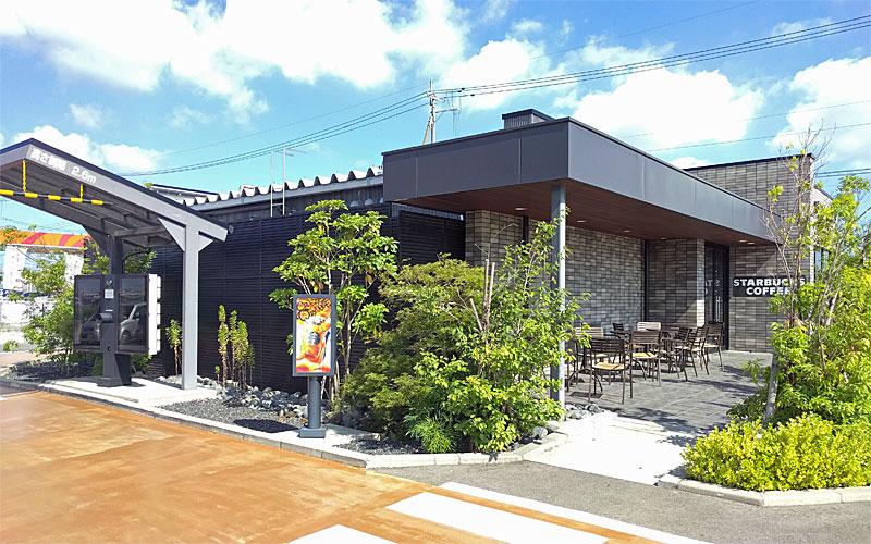 スターバックスコーヒー新潟松崎店ドライブスルー