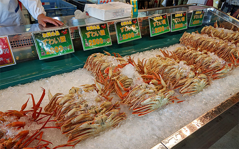 万代島鮮魚センター-カニ