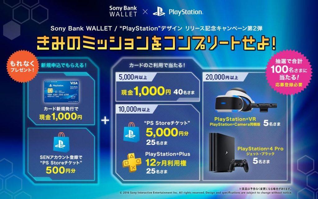 ソニー銀行 PlayStationデザインリリース記念キャンペーン第2弾