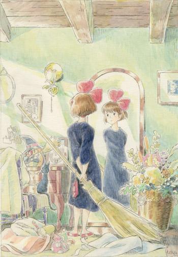 「魔女の宅急便」イメージボード © 1989 角野栄子・Studio Ghibli・N
