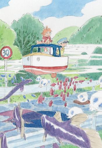 「崖の上のポニョ」 イメージボード 2008年 © 2008 Studio Ghibli・NDHDMT