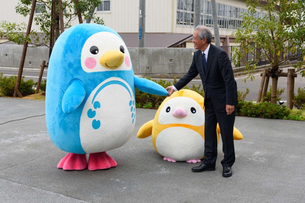 上越市立水族館の公式キャラクター「うみくん」と「かたりん」