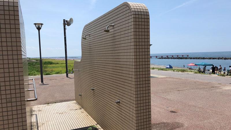 瀬波温泉海水浴場南口シャワー