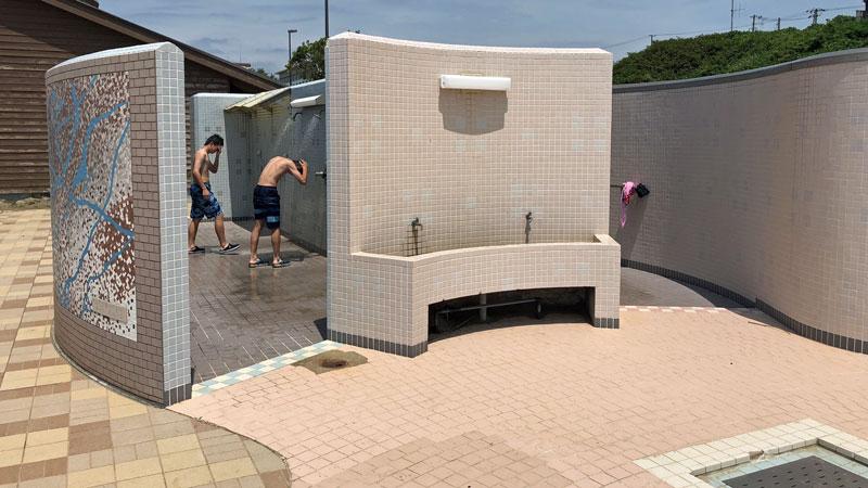 瀬波温泉海水浴場北口シャワー