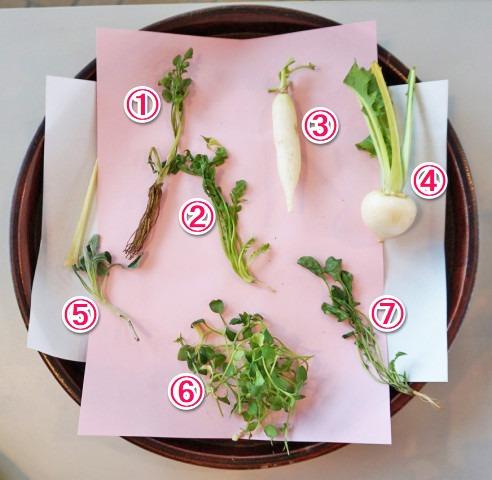 七草粥の七草